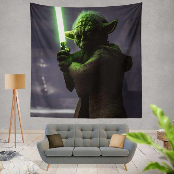 Star Wars Battlefront II 2017 Movie Yoda Wall Hanging Tapestry
