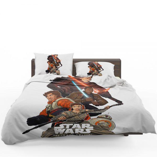 Star Wars Episode VII The Force Awakens Movie BB-8 Finn Kylo Ren Poe Dameron Bedding Set 1