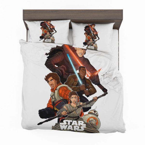 Star Wars Episode VII The Force Awakens Movie BB-8 Finn Kylo Ren Poe Dameron Bedding Set 2