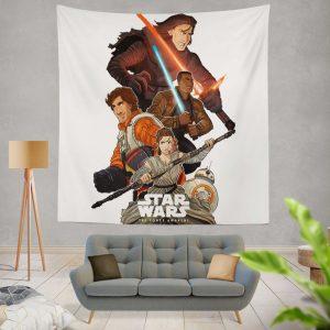 Star Wars Episode VII The Force Awakens Movie BB-8 Finn Kylo Ren Poe Dameron Wall Hanging Tapestry