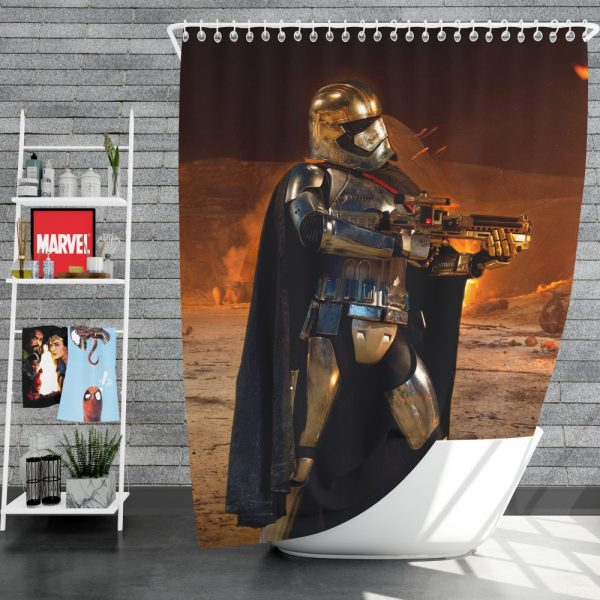 Star Wars Episode VII The Force Awakens Movie Captain Phasma Shower Curtain