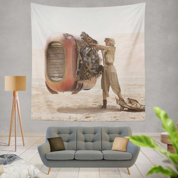 Star Wars Episode VII The Force Awakens Movie Daisy Ridley Rey Star Wars Wall Hanging Tapestry