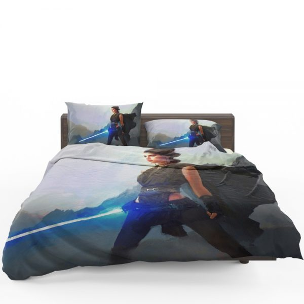 Star Wars Movie Artistic Daisy Ridley Jedi Lightsaber Rey Bedding Set 1