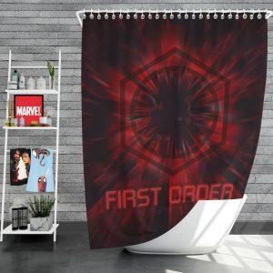 Star Wars Movie Black First Order Red Shower Curtain