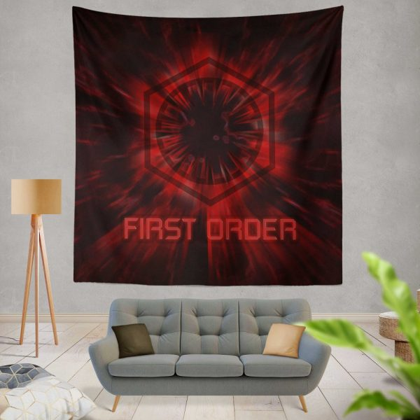 Star Wars Movie Black First Order Red Wall Hanging Tapestry