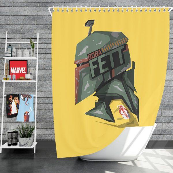 Star Wars Movie Boba Fett Shower Curtain