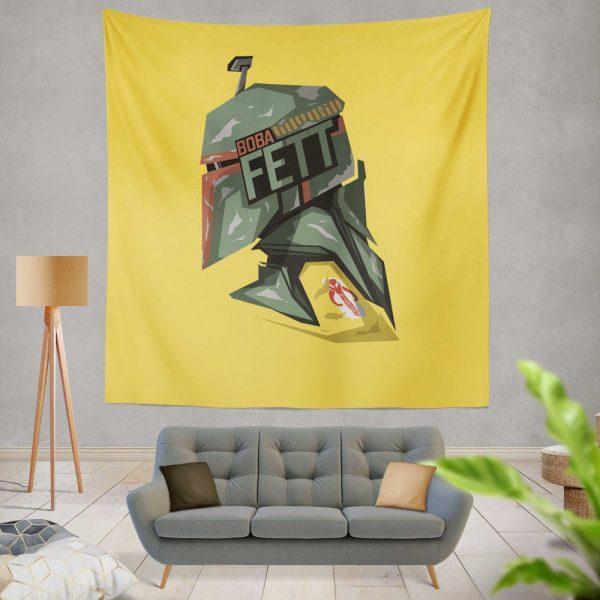 Star Wars Movie Boba Fett Wall Hanging Tapestry