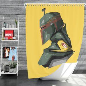 Star Wars Movie Character Boba Fett Shower Curtain