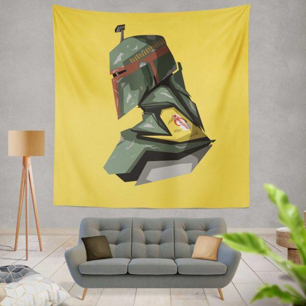 Star Wars Movie Character Boba Fett Wall Hanging Tapestry