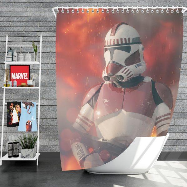Star Wars Movie Clone Trooper Shock Trooper Shower Curtain