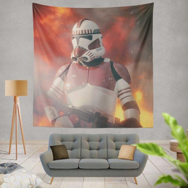 Star Wars Movie Clone Trooper Shock Trooper Wall Hanging Tapestry