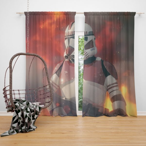 Star Wars Movie Clone Trooper Shock Trooper Window Curtain