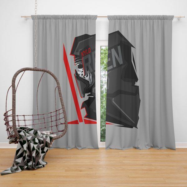 Star Wars Movie Kylo Ren Window Curtain