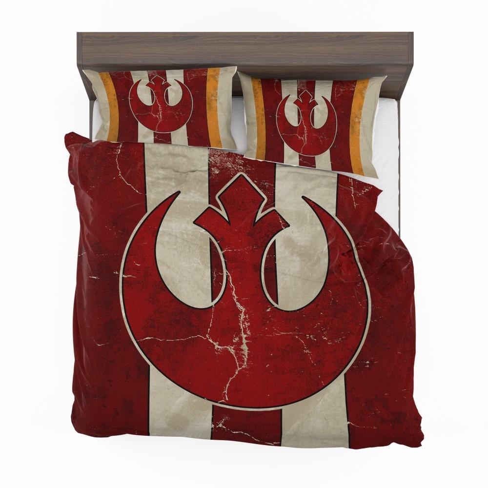 Star Wars Rebel Alliance Helm Movie Logo Bedding Set