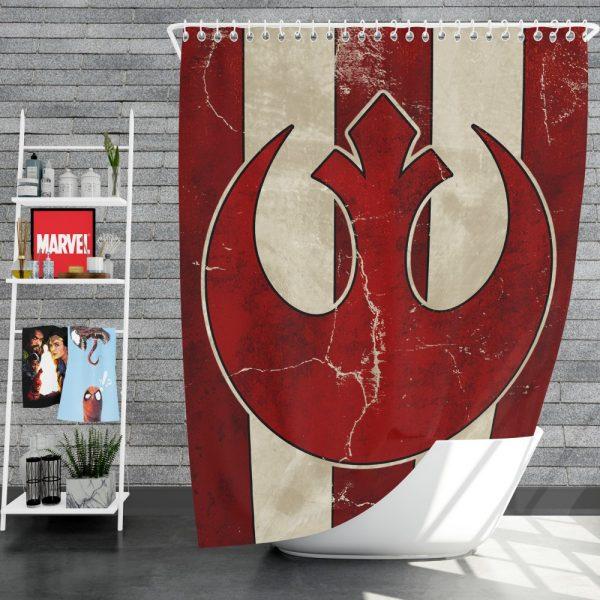 Star Wars Rebel Alliance Helm Movie Logo Shower Curtain