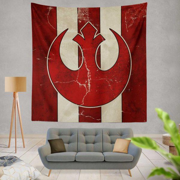 Star Wars Rebel Alliance Helm Movie Logo Wall Hanging Tapestry