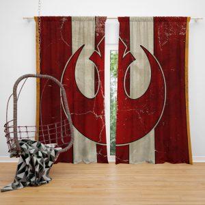 Star Wars Rebel Alliance Helm Movie Logo Window Curtain