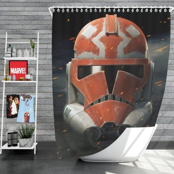 Star Wars The Clone Wars TV Show Clone Trooper Shower Curtain