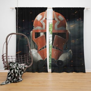 Star Wars The Clone Wars TV Show Clone Trooper Window Curtain