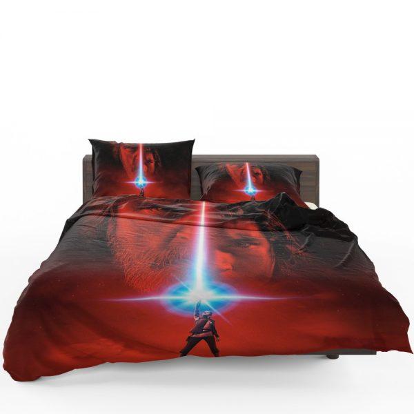 Star Wars The Last Jedi Movie Adam Driver Daisy Ridley Kylo Ren Luke Skywalker Mark Hamill Bedding Set 1