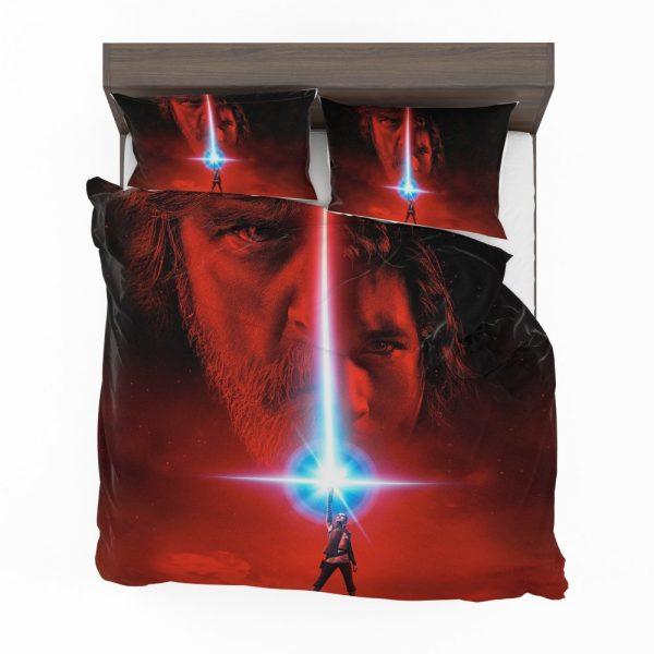 Star Wars The Last Jedi Movie Adam Driver Daisy Ridley Kylo Ren Luke Skywalker Mark Hamill Bedding Set 2