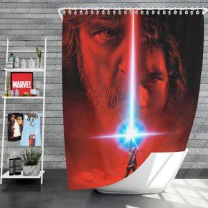Star Wars The Last Jedi Movie Adam Driver Daisy Ridley Kylo Ren Luke Skywalker Mark Hamill Shower Curtain