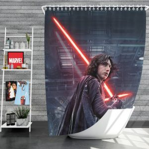 Star Wars The Last Jedi Movie Adam Driver Kylo Ren Shower Curtain