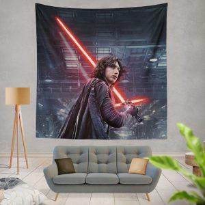 Star Wars The Last Jedi Movie Adam Driver Kylo Ren Wall Hanging Tapestry