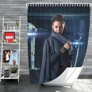 Star Wars The Last Jedi Movie Carrie Fisher Leia Organa Shower Curtain