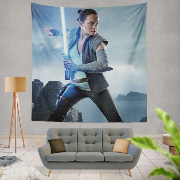 Star Wars The Last Jedi Movie Daisy Ridley Jedi Rey Star Wars Wall Hanging Tapestry