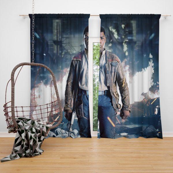 Star Wars The Last Jedi Movie Finn John Boyega Window Curtain
