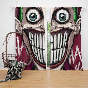 Suicide Squad Movie DC Comics Joker Window Curtain