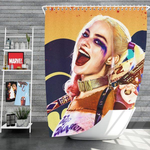 Suicide Squad Movie Harley Quinn Margot Robbie Shower Curtain