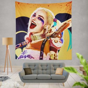 Suicide Squad Movie Harley Quinn Margot Robbie Wall Hanging Tapestry