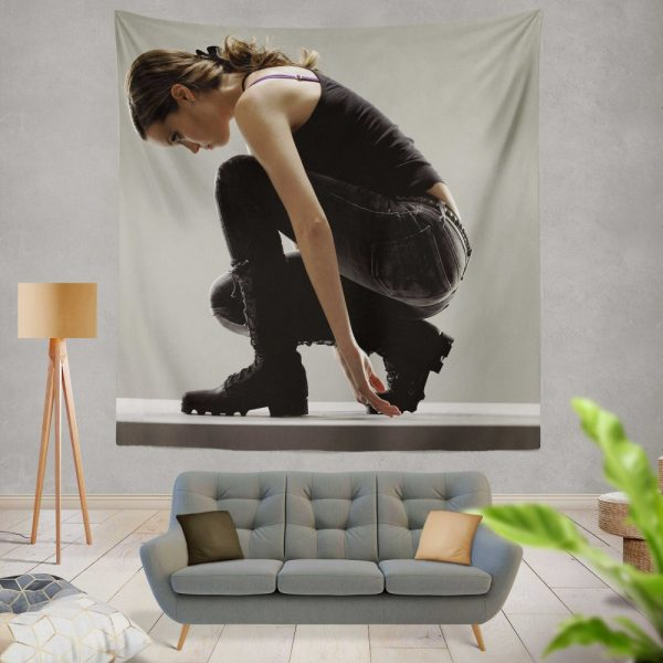 Summer Glau in Terminator The Sarah Connor Chronicles TV Show Wall Hanging Tapestry