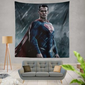 Superman in Batman v Superman Dawn of Justice Movie Wall Hanging Tapestry