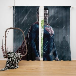 Superman in Batman v Superman Dawn of Justice Movie Window Curtain