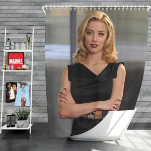 Syrup Movie Amber Heard Blonde Shower Curtain