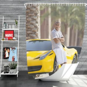 Tej Ludacris in Furious 7 Fast & Furious Movie Shower Curtain