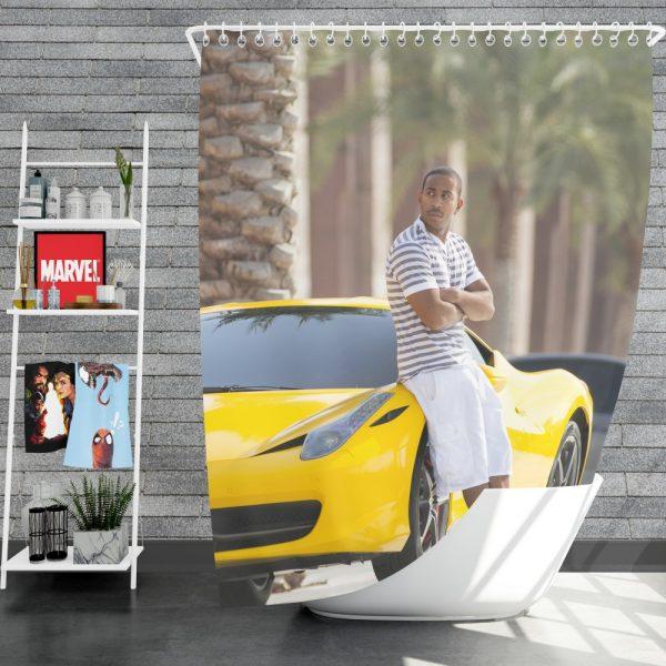 Tej Ludacris in Furious 7 Fast & Furious Movie Shower Curtain