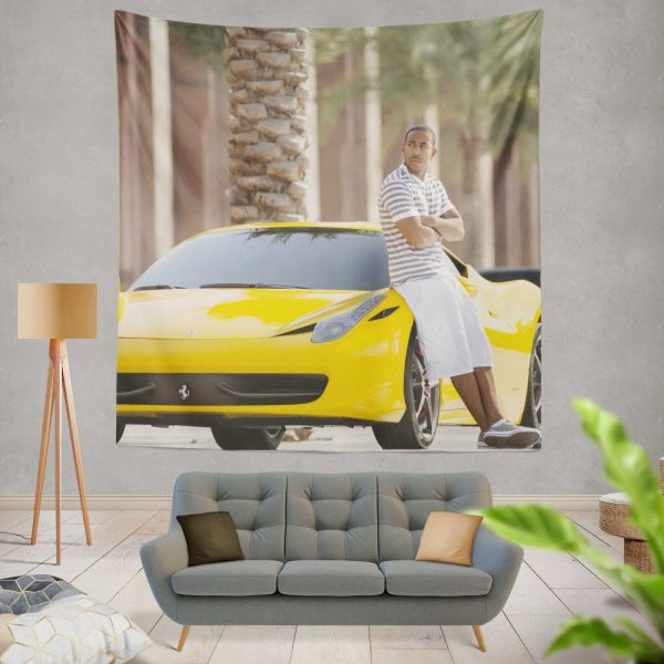 Tej Ludacris in Furious 7 Fast & Furious Movie Wall Hanging Tapestry