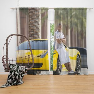 Tej Ludacris in Furious 7 Fast & Furious Movie Window Curtain