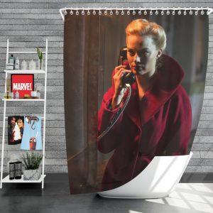 Terminal Movie Margot Robbie Shower Curtain