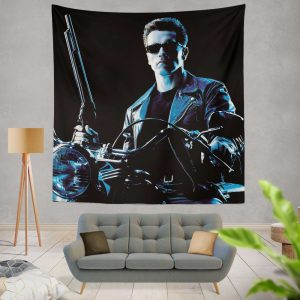 Terminator 2 Judgment Day Movie Arnold Schwarzenegger Wall Hanging Tapestry