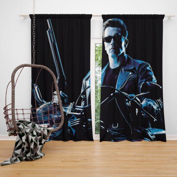 Terminator 2 Judgment Day Movie Arnold Schwarzenegger Window Curtain
