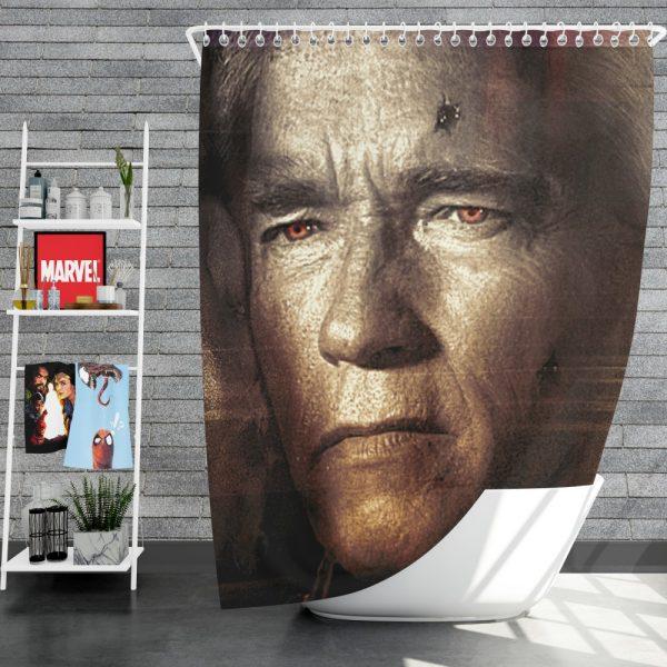 Terminator Genisys Movie Terminator Arnold Schwarzenegger Shower Curtain