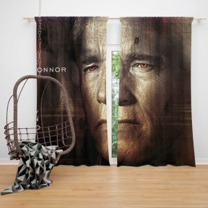 Terminator Genisys Movie Terminator Arnold Schwarzenegger Window Curtain