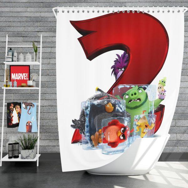 The Angry Birds Movie 2 Movie Shower Curtain