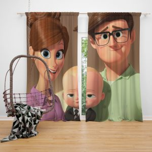 The Boss Baby Movie Window Curtain