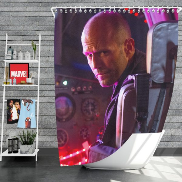 The Expendables 3 Movie Lee Christmas Jason Statham Shower Curtain